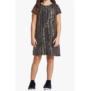 ART CLASS Girls' Sequin Short Sleeve Dress XXL